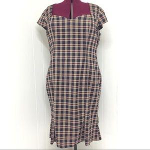 5XL Plaid Rockabilly Pinup Hourglass Dress